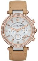 Michael Kors Womens Chronograph Parker Brown Vachetta Leather Strap 39mm - Lyst