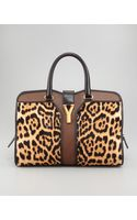 Saint Laurent Leopard Print Chyc Ew Bag - Lyst