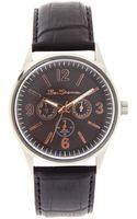 Ben Sherman Black Chronograph Strap Watch - Lyst