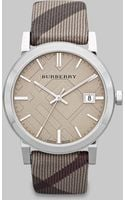 Burberry Check Stamped Round Stainless Steel Watch38mm - Lyst