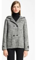 Jil Sander Hooded Wool Blend Coat - Lyst