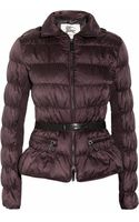 Burberry Belted Hooded Padded Shell Jacket - Lyst