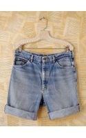Free People Vintage Longer Denim Cutoffs - Lyst