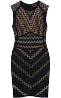 Missoni Zig Zag Knee Length Dress - Lyst
