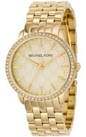 Michael Kors Womens Ion Plated Stainless Steel Bracelet Watch  - Lyst