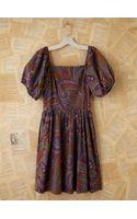 Free People Vintage Batik Printed Bubble Sleeve Dress - Lyst