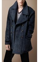 Burberry Brit Wool Blend Pea Coat - Lyst