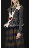 Burberry Prorsum Cotton Tweed Heritage Jacket - Lyst
