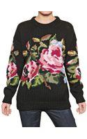 Dolce & Gabbana Intarsia Wool Knit Sweater - Lyst