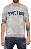 DSquared2 Flock Logo Brushed Fleece Sweatshirt - Lyst