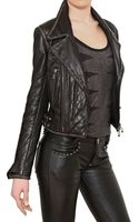 Philipp Plein Swarovski Quilted Nappa Leather Jacket - Lyst