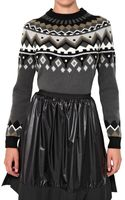 Proenza Schouler Wool Cashmere Intarsia Knit Sweater - Lyst