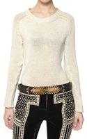 Balmain Shetland Wool Knit Sweater - Lyst