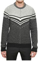 Burberry Prorsum Wool Cashmere Knitted Sweater - Lyst
