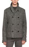 Dior Homme Brushed Herringbone Wool Coat - Lyst
