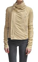 Rick Owens Leather Jacket with Biker Effect - Lyst