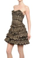 Jay Ahr Laminated Ruffled Silk Tulle Lace Dress - Lyst