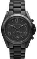 Michael Kors Womens Chronograph Black Ion Plated Stainless Steel Bracelet 43mm - Lyst