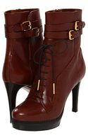 Burberry Brogue Platform Ankle Boots - Lyst