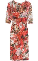 Erdem Sequin Floral Cocktail Dress - Lyst