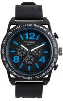 Titanium Round Rubber Strap Watch - Lyst