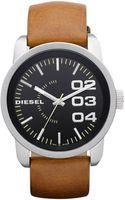 Diesel  Leather Strap 54x46mm - Lyst