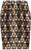Prabal Gurung Printed Wool And Silk Blend Pencil Skirt - Lyst