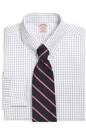 Brooks Brothers Supima Cotton Noniron Traditional Fit Pinpoint Windowpane Buttondown Dress Shirt - Lyst