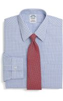 Brooks Brothers Supima Cotton Noniron Extraslim Fit Shadow Check Dress Shirt - Lyst