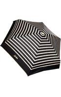 Jean Paul Gaultier Striped Folding Umbrella Blackcream - Lyst