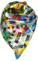 Topshop No Signal Scarf By Beta - Lyst