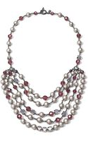Brooks Brothers Glass Pearl Necklace - Lyst