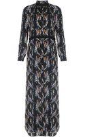 Theyskens' Theory Derra Crystal Print Maxi Dress - Lyst