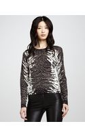 Alice + Olivia Constance Tigerprint Sweater - Lyst