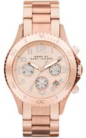 Marc By Marc Jacobs Chronograph Rose Gold Ion Plated Stainless Steel Bracelet 40mm - Lyst