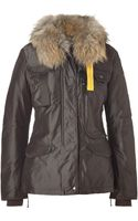 Parajumpers Brown Furlined Denali Down Jacket - Lyst