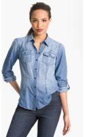 Sandra Ingrish Roll Sleeve Denim Shirt - Lyst