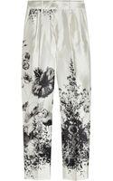 J.Crew Café Floralprint Wool and Silkblend Capri Pants - Lyst
