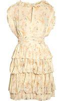 Jill Stuart Regina Floral Print Silk Chiffon Dress - Lyst
