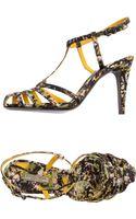 Bottega Veneta High-heeled Sandals - Lyst