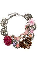 Asos Premium Jewelled Flower Collar Necklace - Lyst