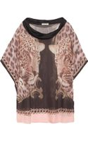 Emma Cook Printed Silk Chiffon Top - Lyst