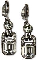 Givenchy Light Hematite Tone Black Diamond Crystal Drop Earrings - Lyst