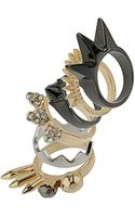 Topshop Spike Jewels Ring Pack - Lyst