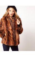 ASOS Collection Asos Vintage Swing Fur Coat - Lyst