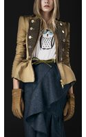 Burberry Prorsum Tailored Cotton Riding Jacket - Lyst