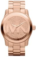 Michael Kors Womens Runway Rose Gold Tone Stainless Steel Bracelet 45mm - Lyst