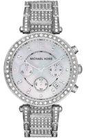 Michael Kors Womens Chronograph Parker Stainless Steel Bracelet 39mm - Lyst