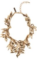 Oscar de la Renta Russian Gold Leaf Collar Necklace - Lyst