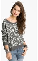 Free People Leopard Print Sweater - Lyst